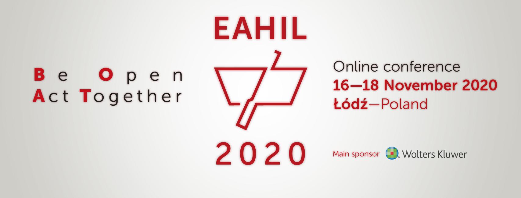 Baner konferencji EAHIL 2020