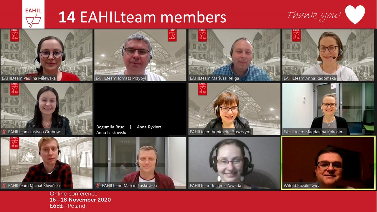 13  EAHIL Team Members