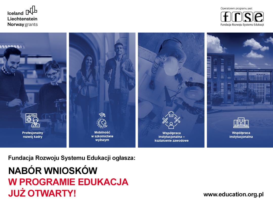 Baner promujący II nabór wniosków w programie Edukacja