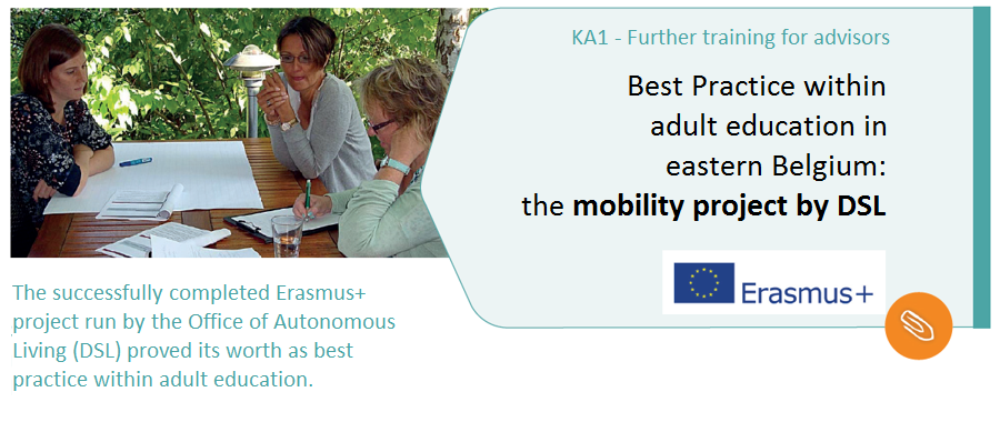Best Practice within adult education in eastern Belgium: the mobility project by DSL