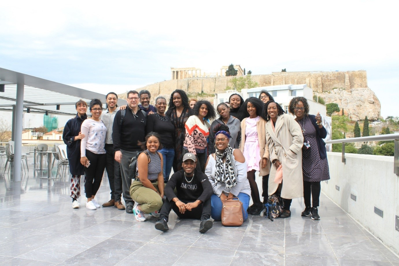 A photo of Sankofa Intergenerational Learning Hub participants in Athens, Greece