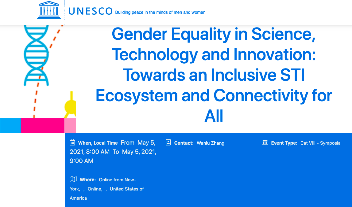 Gender Equality in Science, Technology and Innovation