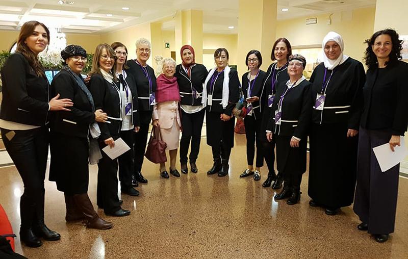 Le delegate della Union of Mayoral Advisor on the Status of Women in Israel con Pina Raso e l'interprete, Raffaella Scardi