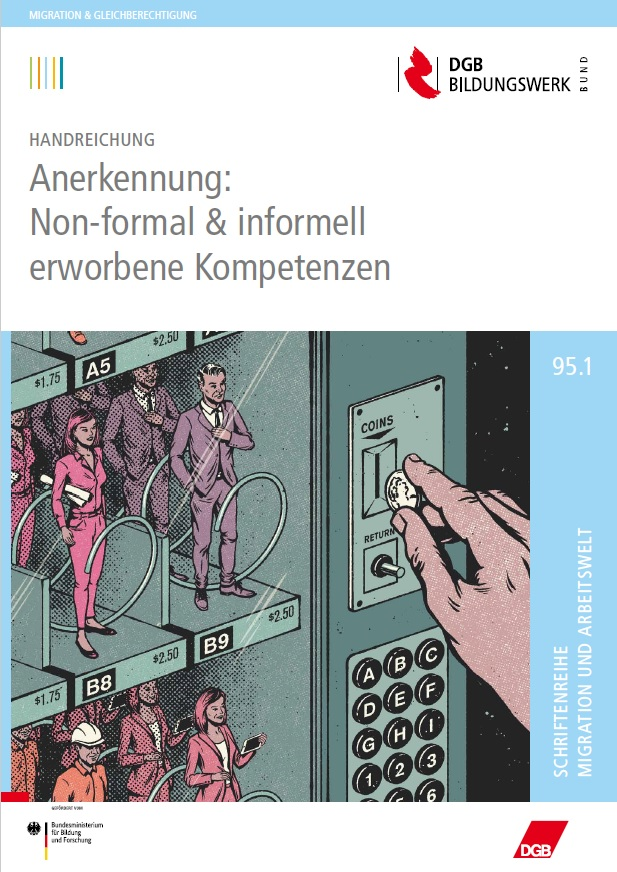 Cover der Handreichung ANERKENNUNG: Non-formal und informell erworbene Kompetenzen