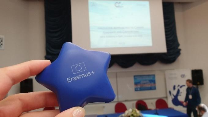 Symbolfoto Erasmus+ Stern © Bildungsberatung Niederösterreich