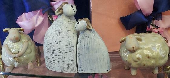 lamb statues