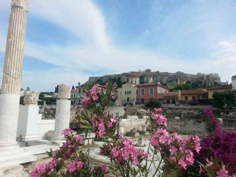 Blick auf die Akropolis (© Roswitha Siegl)