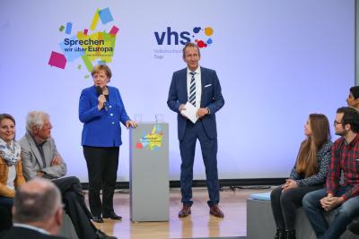 Bürgerdialoge VHS Angela Merkel © Foto Thewalt