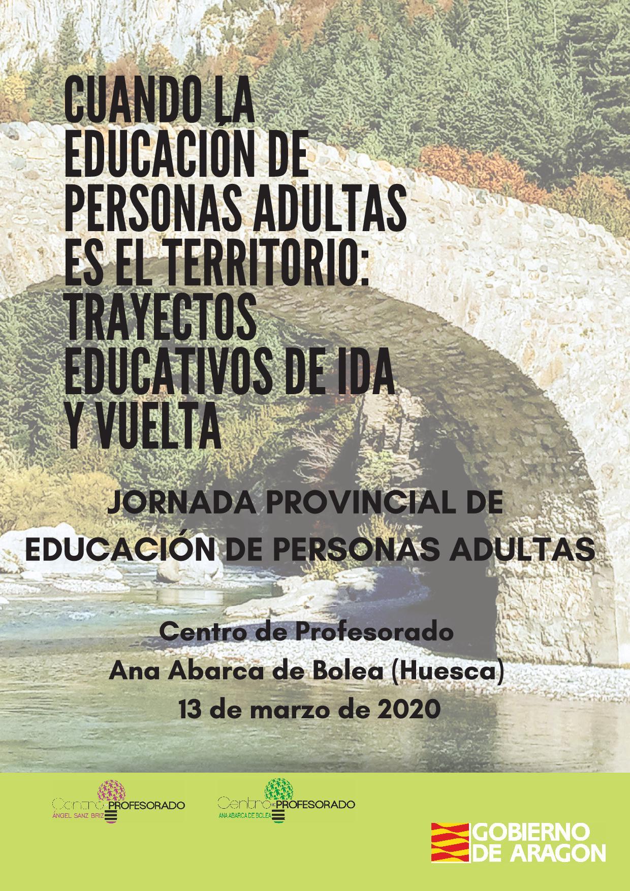 JORNADA PROVINCIAL DE EDUCACIÓN DE PERSONAS ADULTAS (HUESCA)