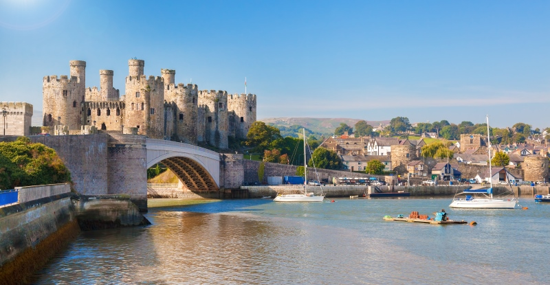 Conwy Castle in Wales