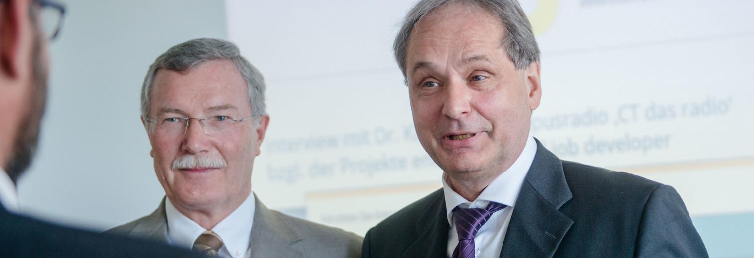 Hans-Dieter Hiedels und Dr. Martin Kröll. Foto: © Katja Marquard