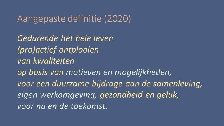 Definitie leven lang leren - 2020