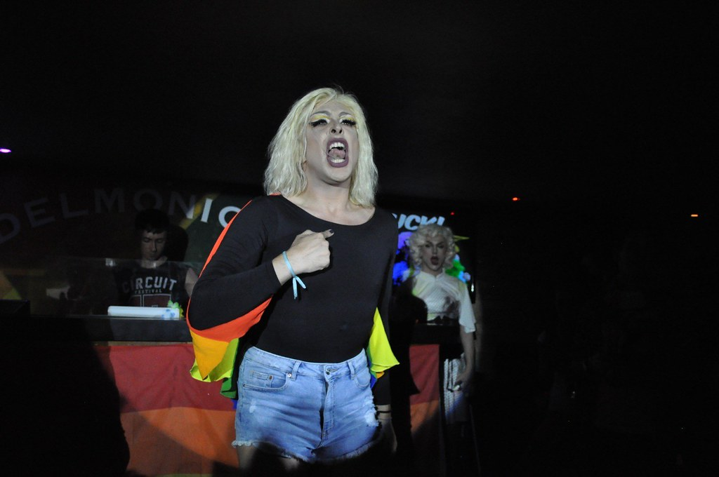 Drag queen performing onstage
