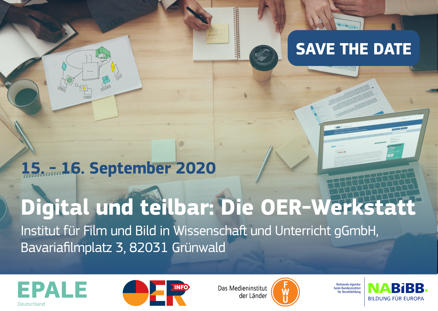 Digital und teilbar: Die OER-Werkstatt am 15.-16. September 2020 am FWU in München