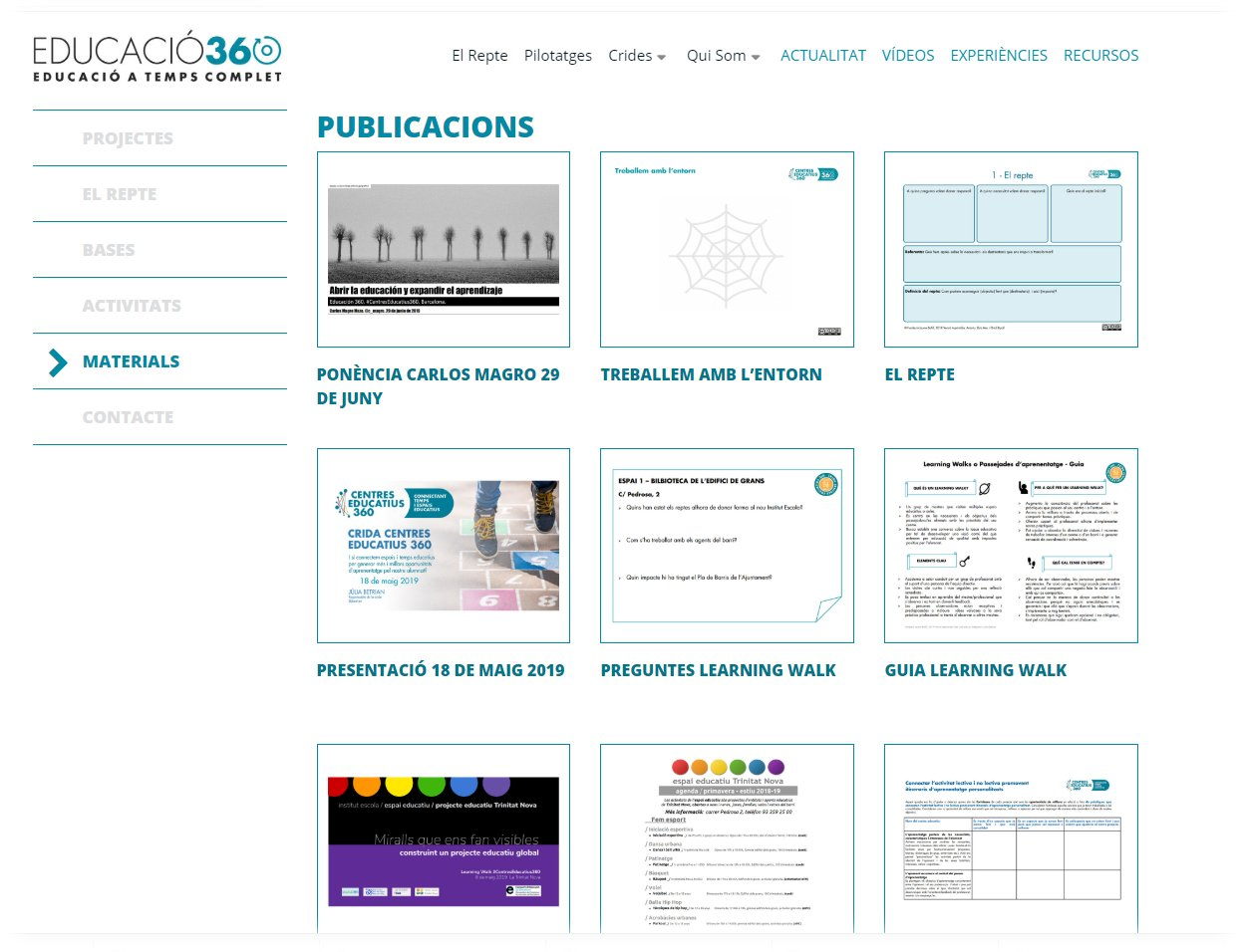 propuestas, experiencias y publicaciones