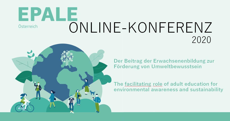 """Poster der EPALE Online-Konferenz 2020 zum Thema """"Grüne Transformation""""."""