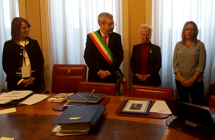 Daniela Ermini, Unità Epale Italia, con il Sindaco di Udine, Pina Raso e Orna Mager