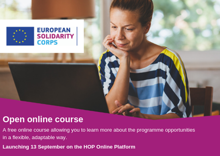 European Solidarity Corps Open Online Course launch promotional image