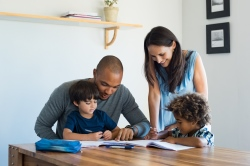 A family learning together