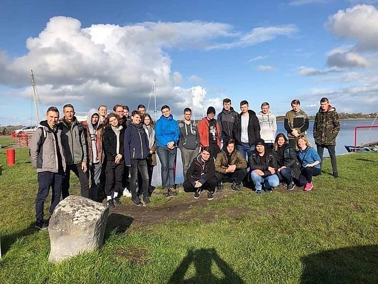 Grupa stażystów w Galway