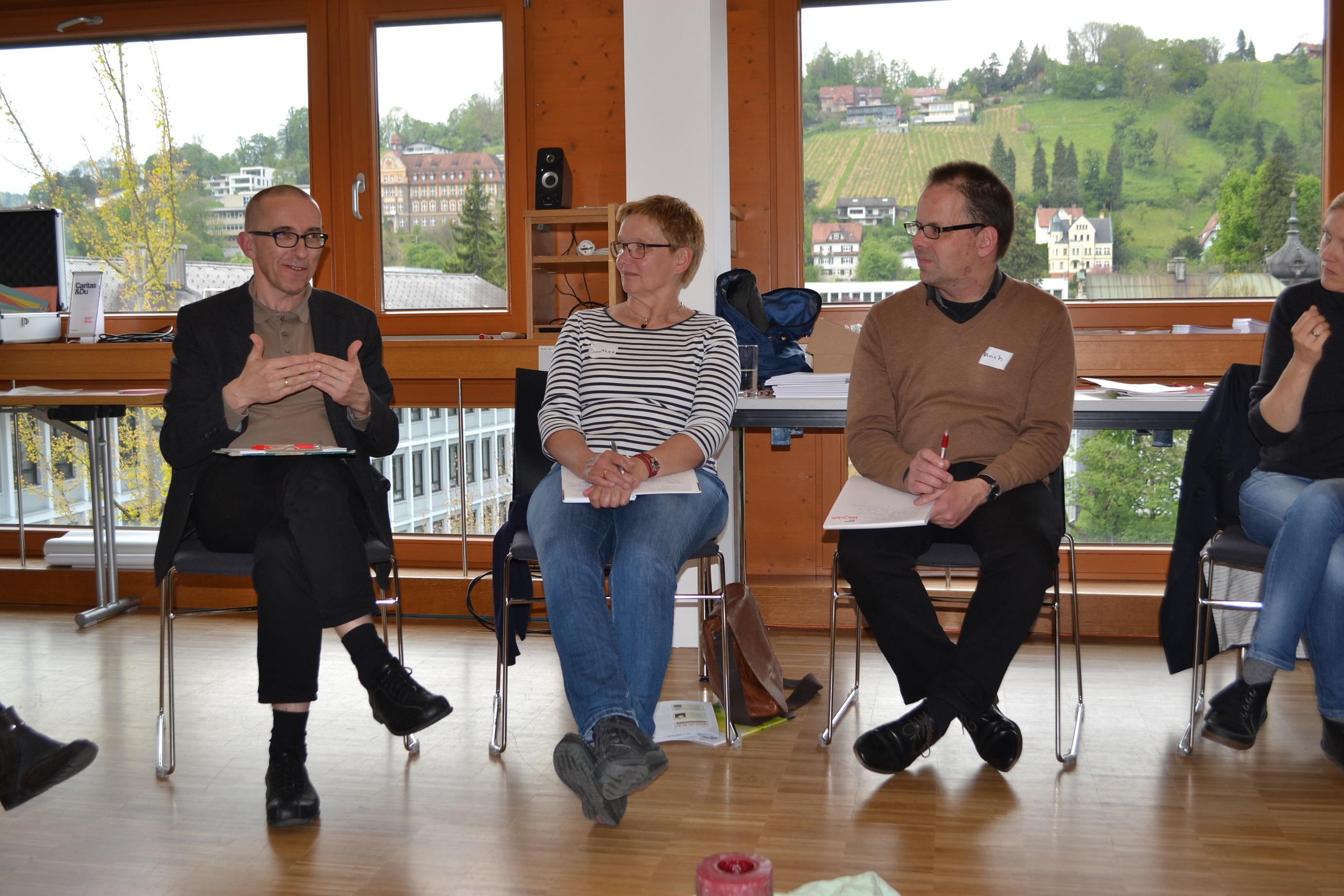 Gesprächsrunde mit Caritasdirektor, Mai 2017