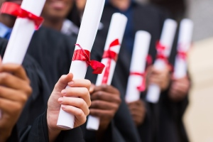 Graduates holding degrees