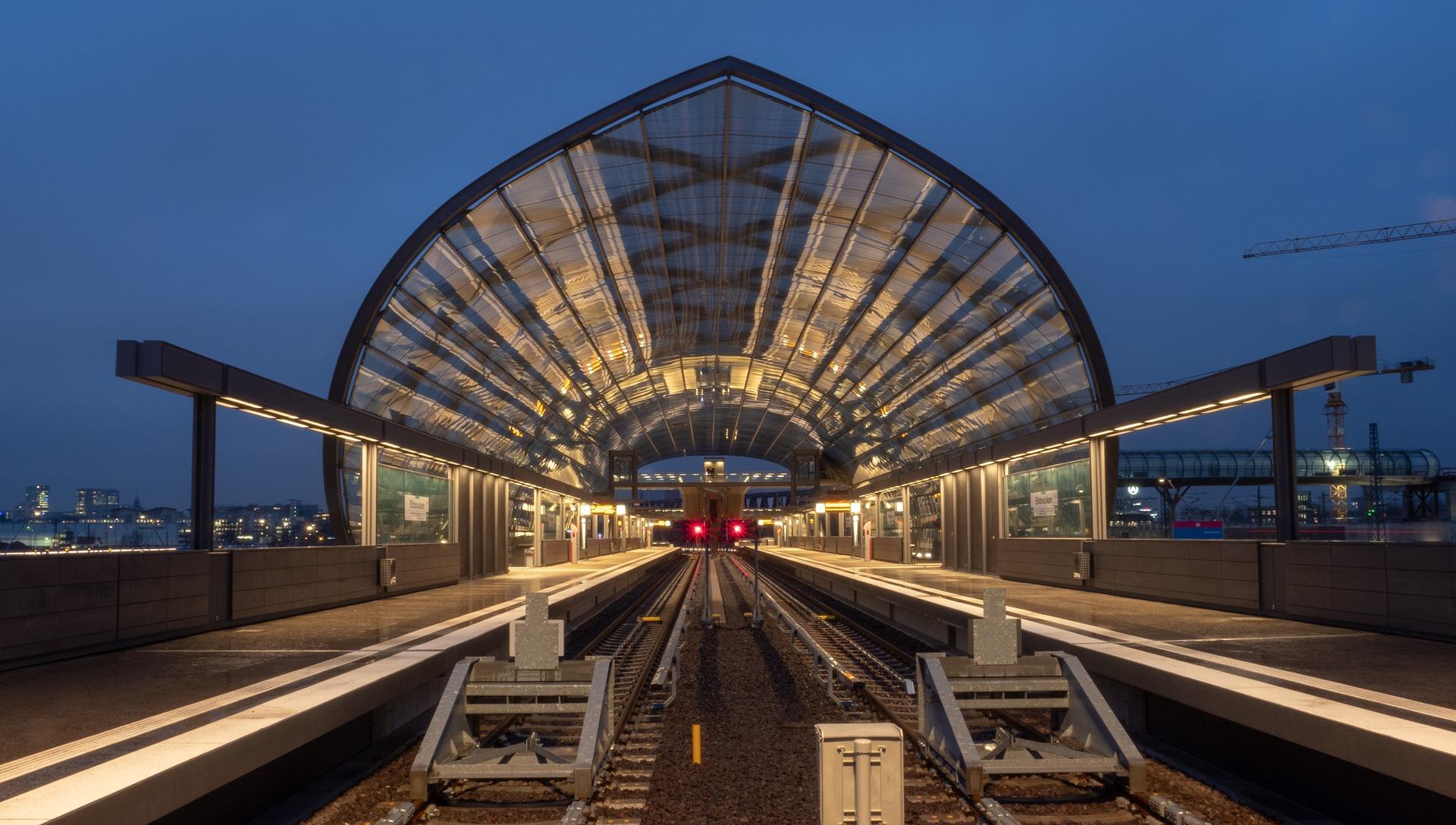 S-Bahn Station Elbbrücke in Hamburg