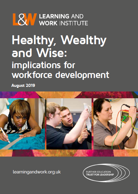 Healthy, Wealthy and Wise: implications for workforce development report title page