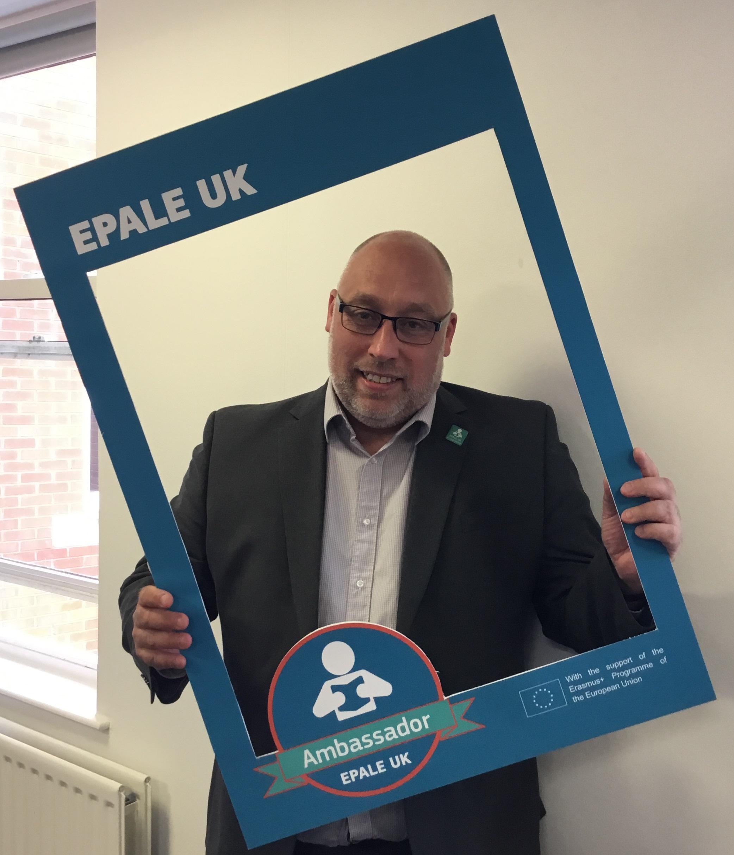 A photo of EPALE UK Ambassador Ian Pegg