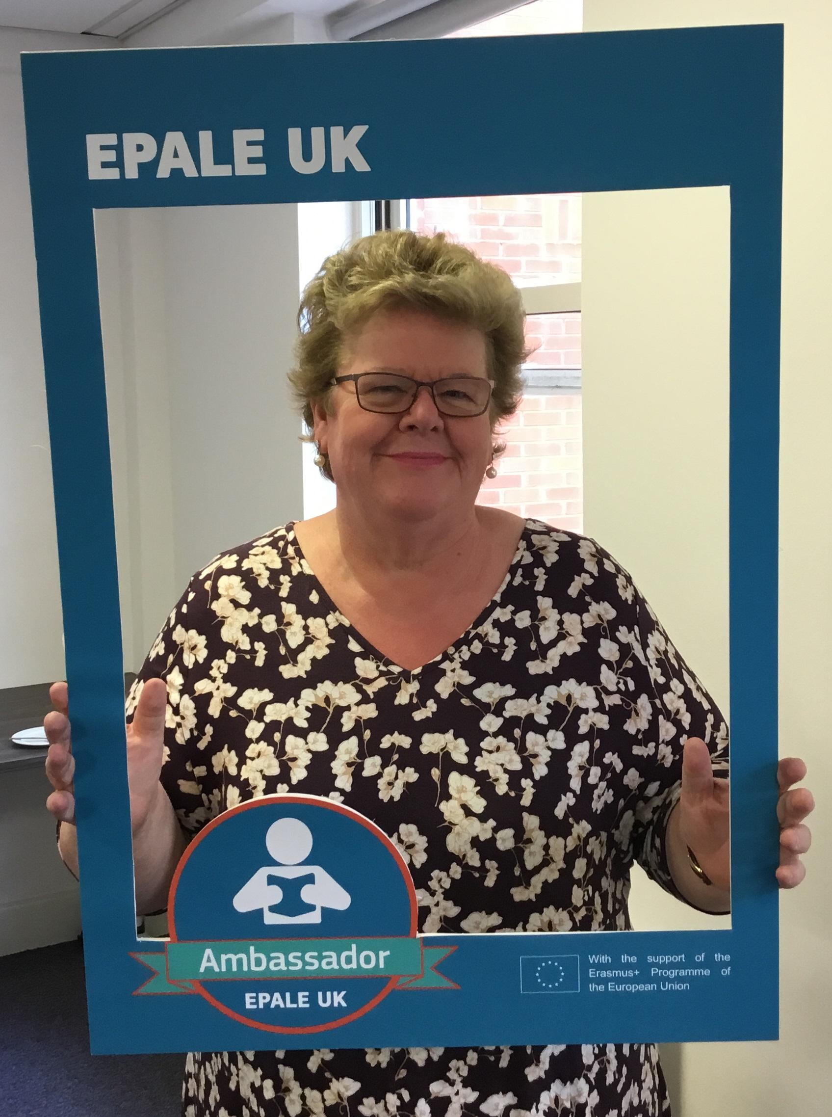 A photo of EPALE UK Ambassador Steph Taylor.