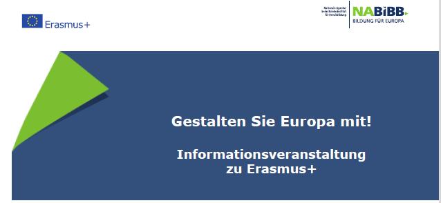 Erasmus+ Infoveranstaltung Magdeburg