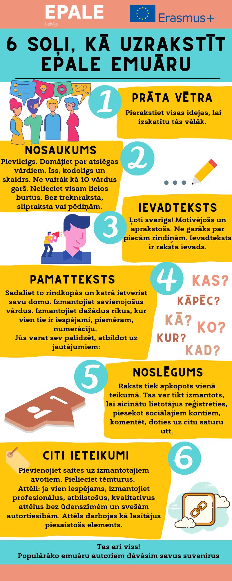 6 soļi