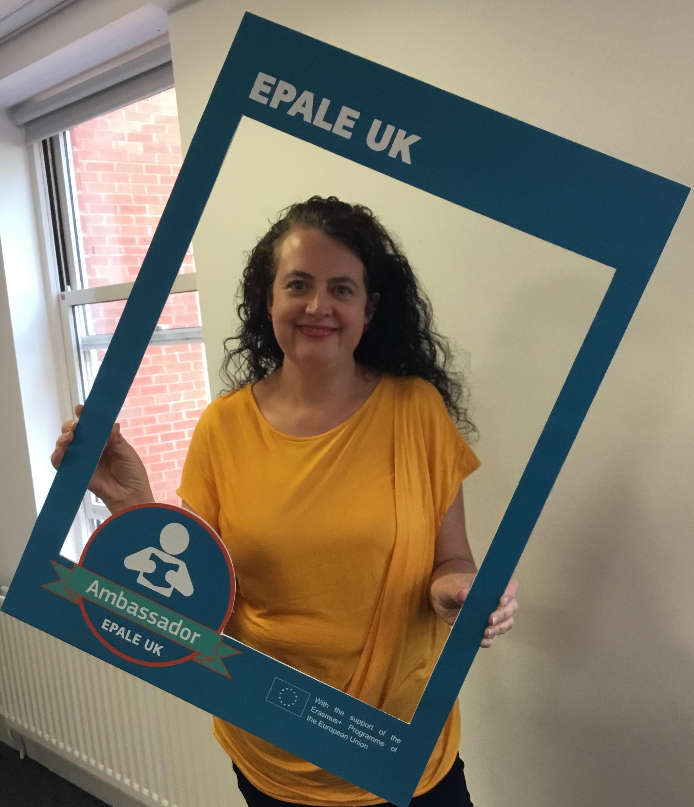 A photo of EPALE UK Ambassador Jo Fletcher-Saxon