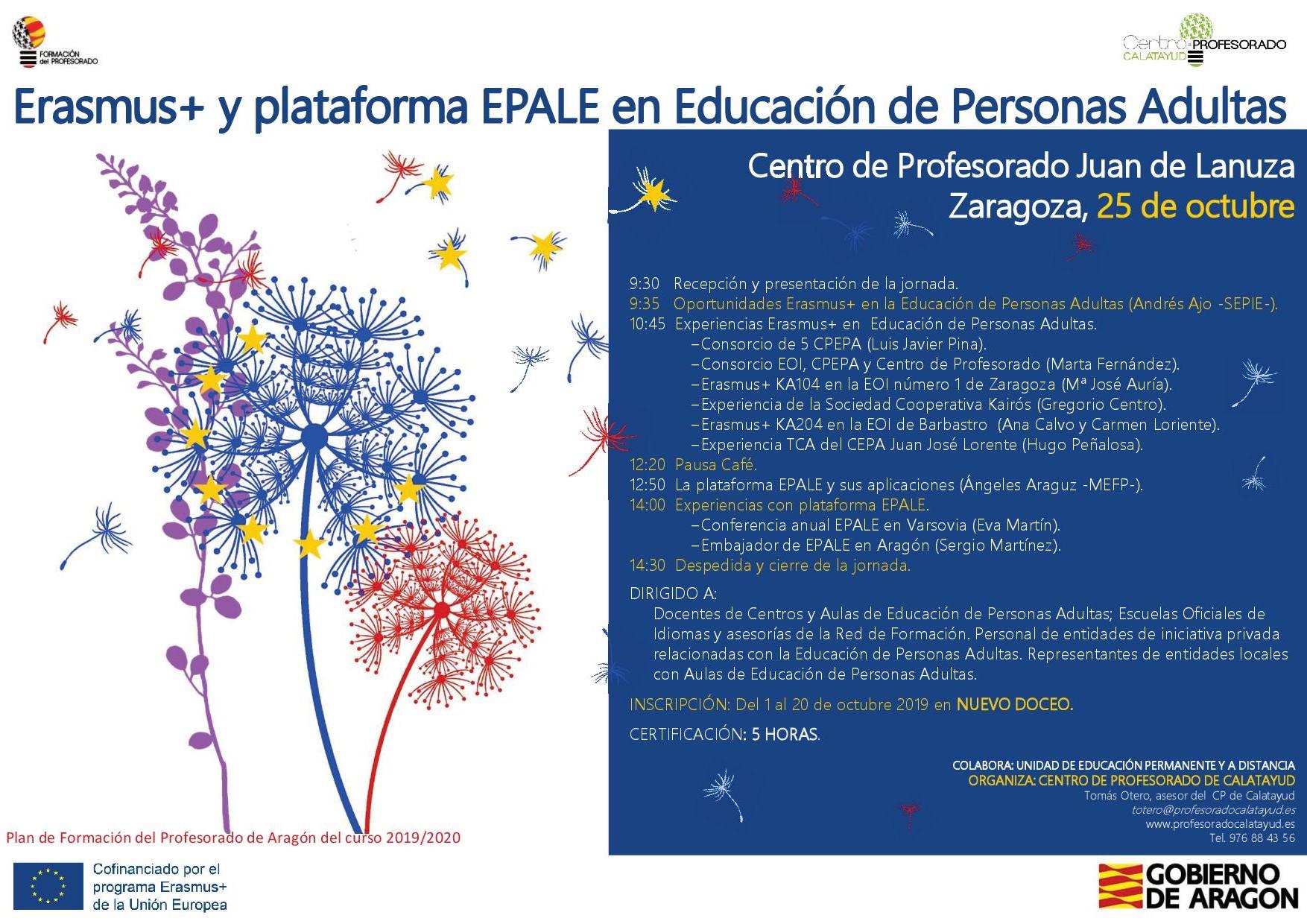 Jornada Erasmus+ y plataforma EPALE