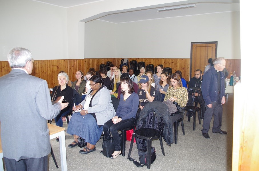 A photo of Kairos Europe staff during a professional development course in Southern Italy,