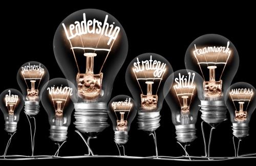 Lightbulbs with writing inside