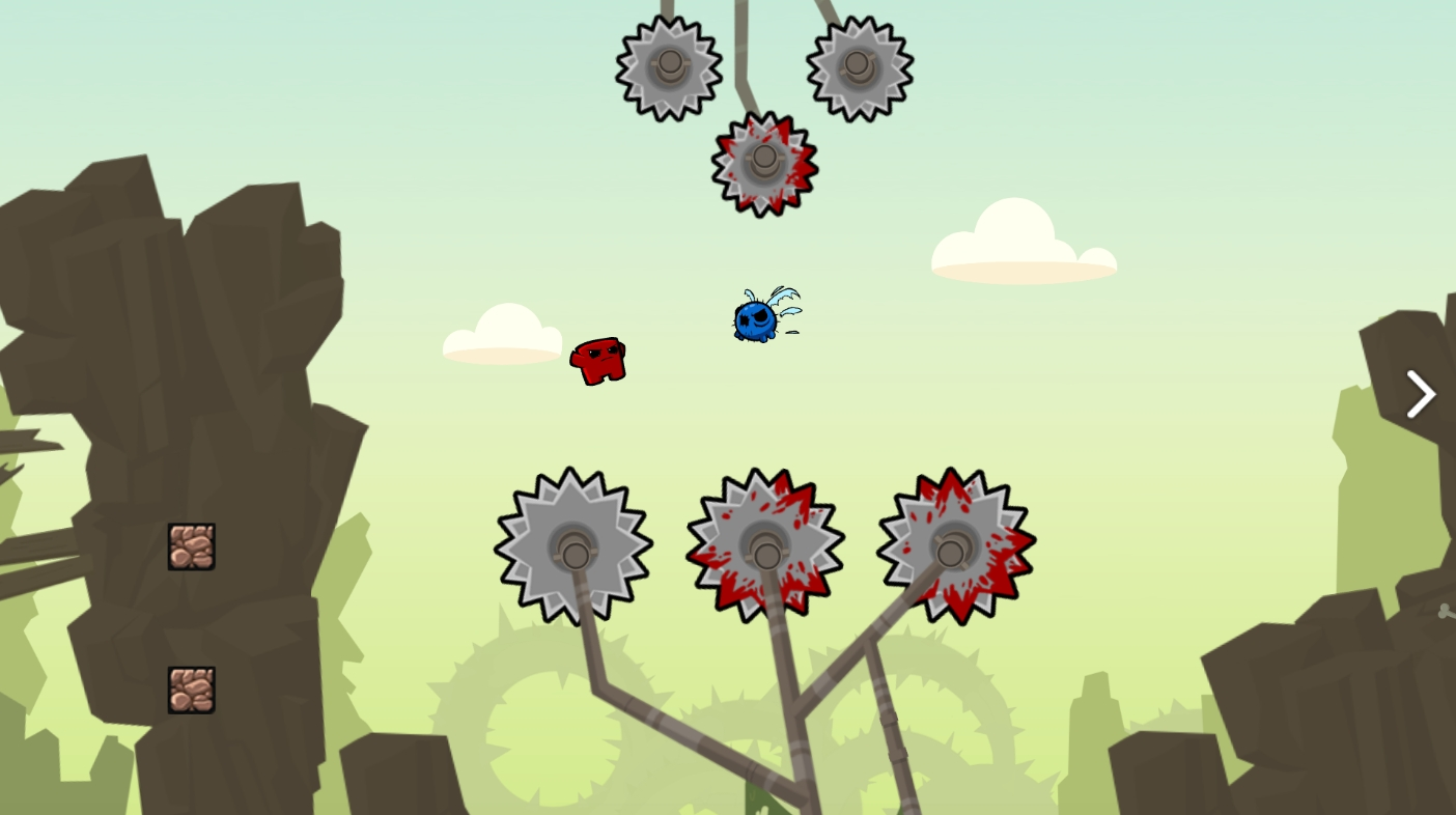 Screenshot z gry Meatboy