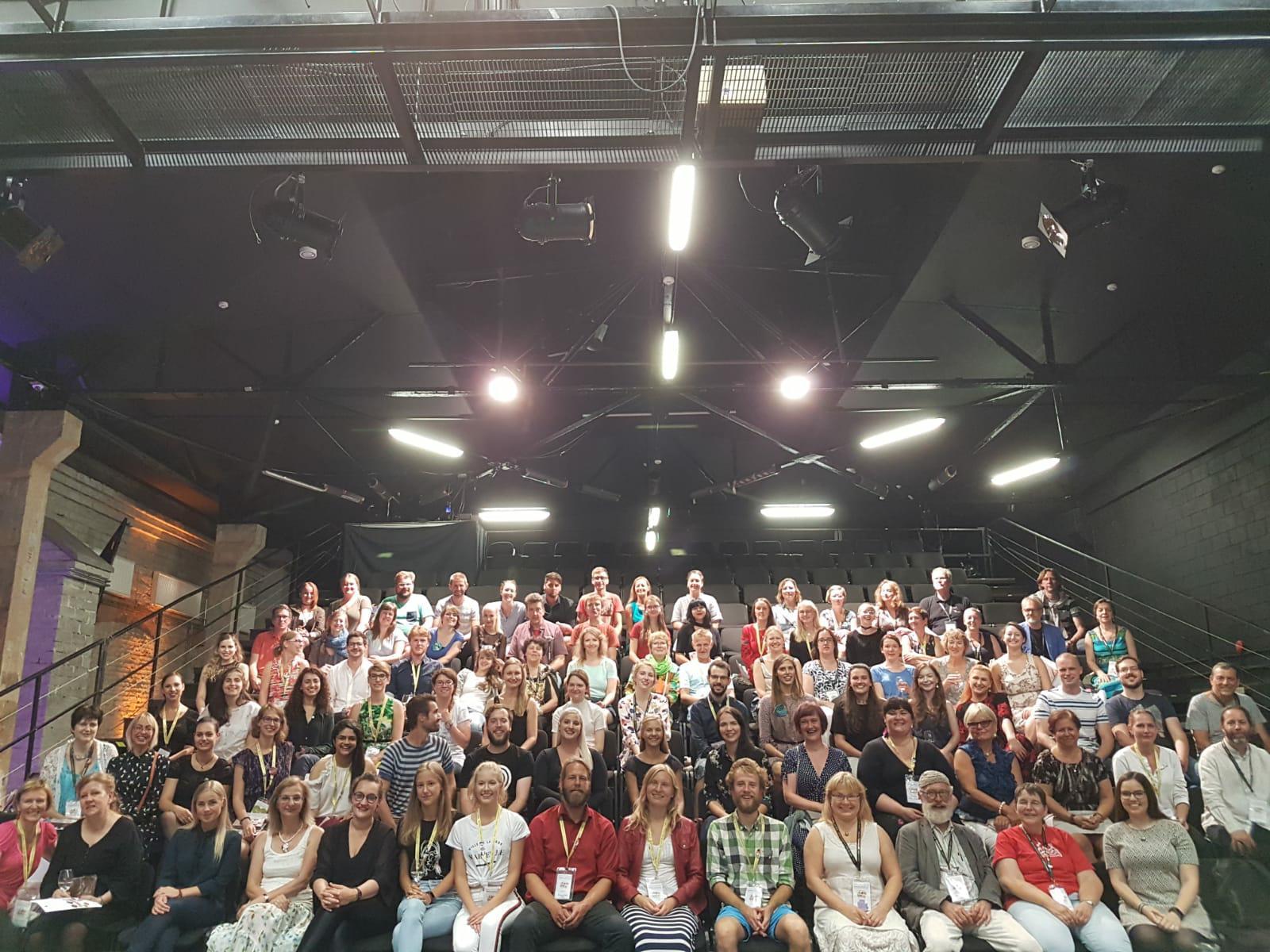 Mednarodni prostovoljci na Europa Cantat Talin 2018