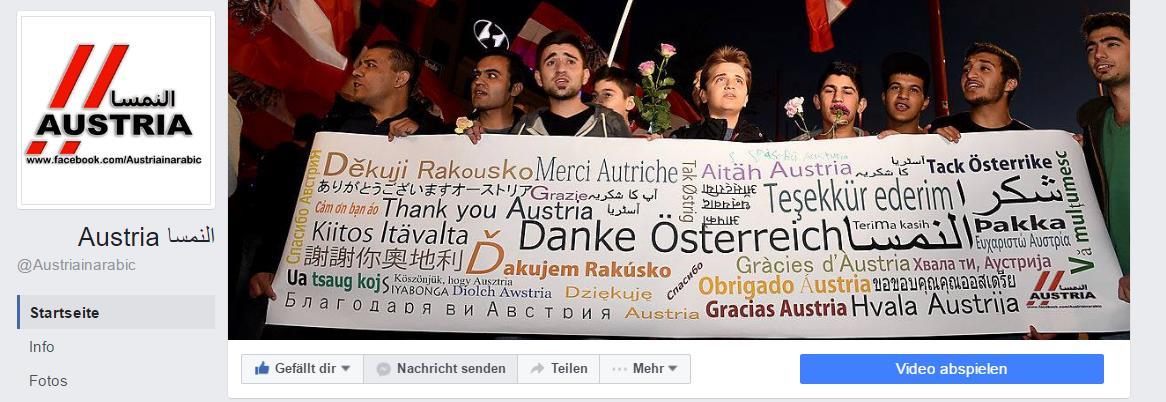 Muhammad Kasem - Facebook-Portal Austria in Arabic