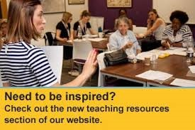 """""""Need to be inspired? Check out the new teaching resources section of our website."""""""