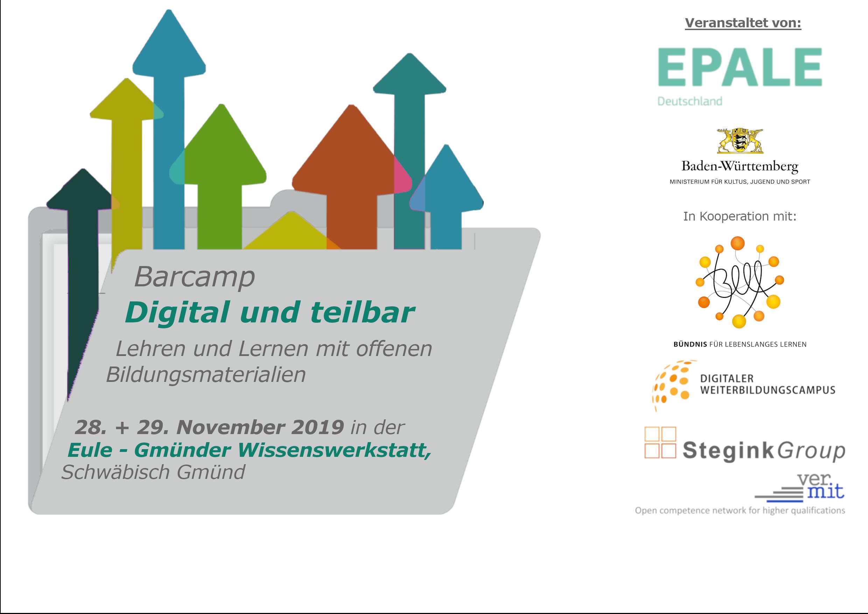 Einladung zum Barcamp Digital und teilbar am 28.-29.11. in Schwäbisch Gmünd