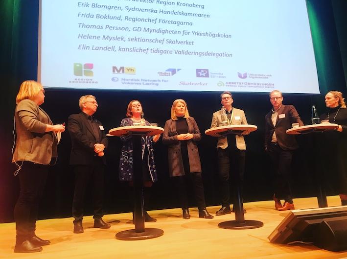 Bilden togs vid paneldebatten i Växjö. Foto: Marja Beckman