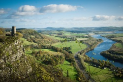 Landscape view of countryside in Perth, Scotland
