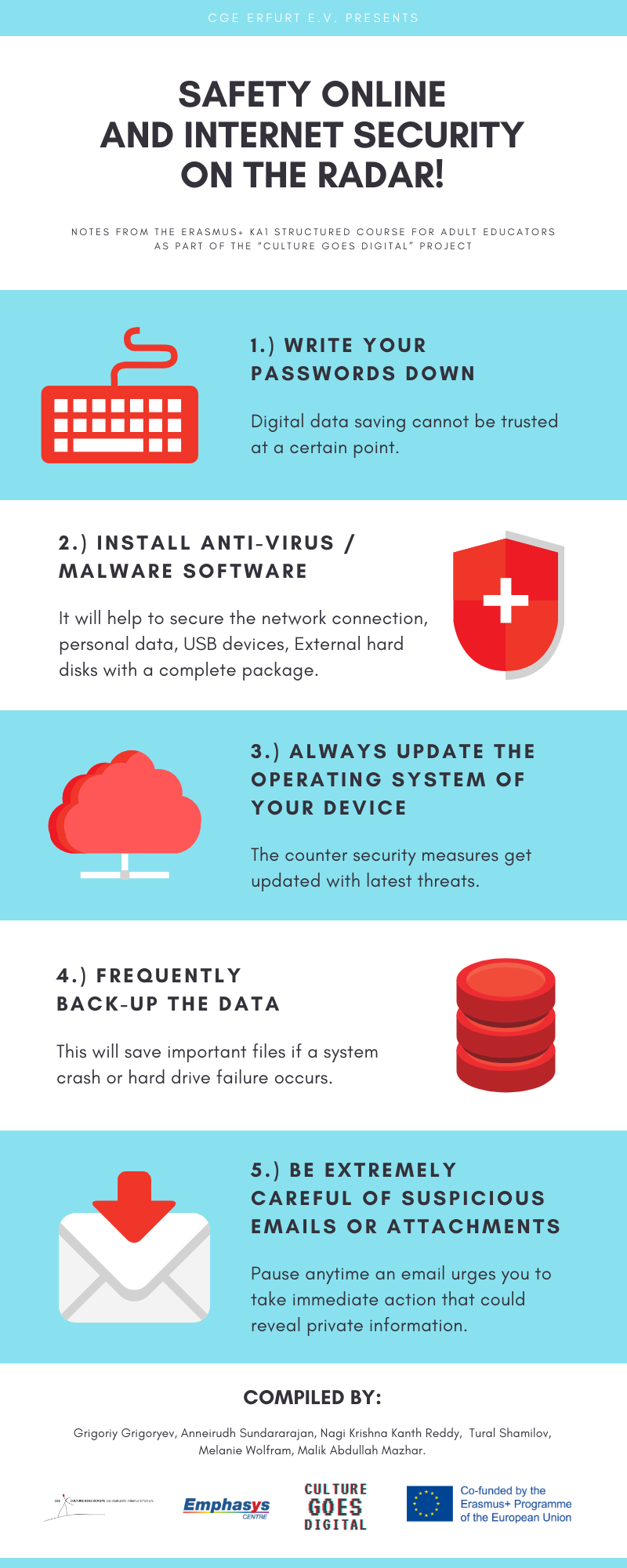Safety Online And Internet Security on the Radar! - Infographics of CGE Erfurt