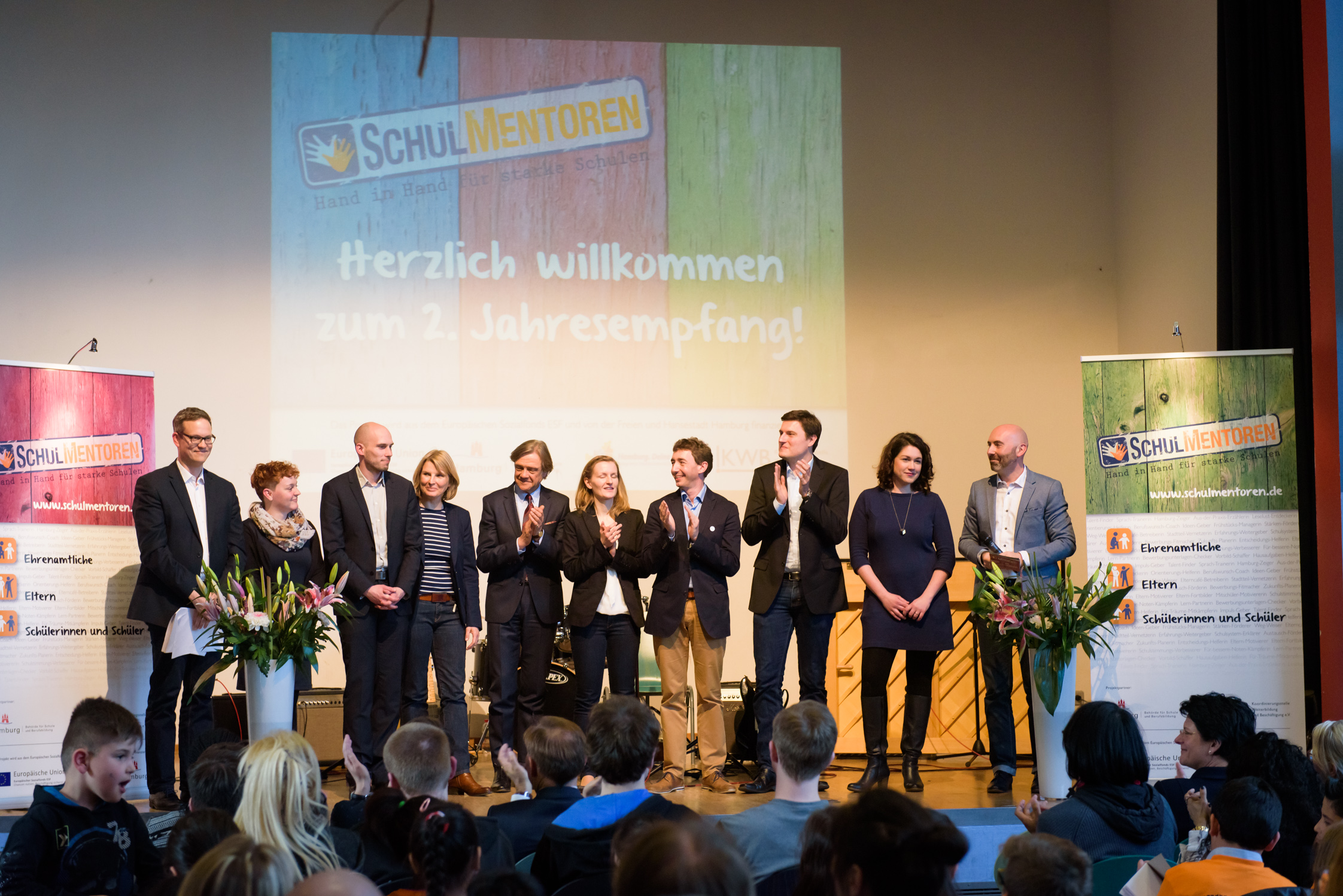 Schulmentoren Project Team at annual reception on April 28,2016