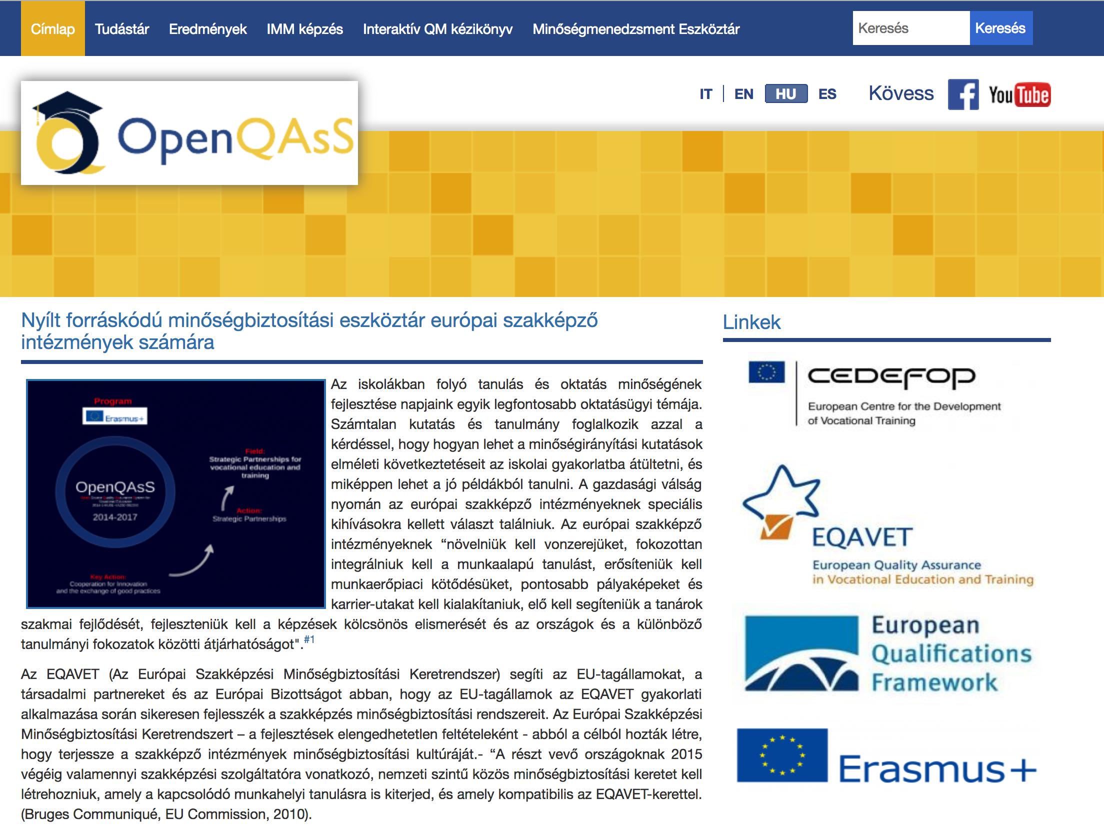 OpenQAsS weboldal
