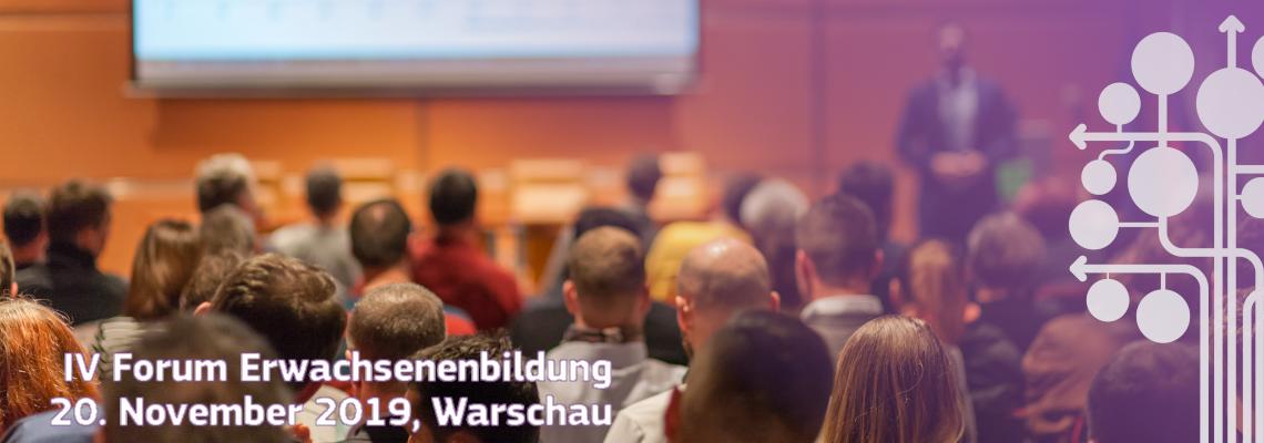Forum Erwachsenenbildung 2019, Warschau