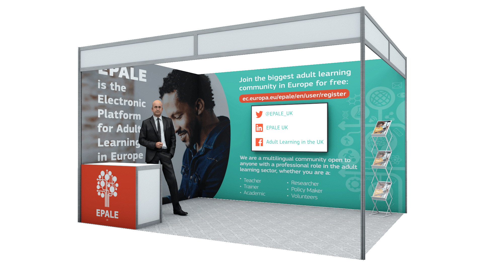 EPALE virtual stand