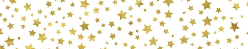 Gold stars banner