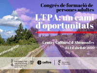 Cartel anunciador del Congreso FPA 2020 de la Comunitat Valenciana